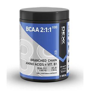 BCAA 2:1:1 X80 CAPS. - Dex Nutrition  320 kaps.