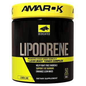Dedicated Lipodrene + BCAA - Amarok Nutrition 500 g Lemon Lime