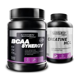 Akcia: BCAA Synergy + Creatin HCL - Prom-IN 550 g + 240 kaps. Orange