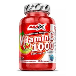 Vitamin C 1000 + Rose Hip Extract - Amix 100 kaps.