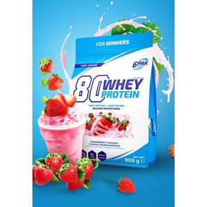 80 Whey Protein - 6PAK Nutrition 908 g Chocolate