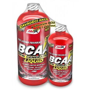 1+1 Zadarmo: BCAA New Generation Liquid - Amix 1000 ml + 500 ml  Fruit Punch
